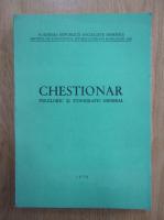 Chestionar folcloric si etnografic general