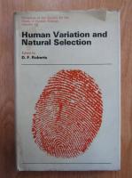 Anticariat: D. F. Roberts - Human Variation and Natural Selection