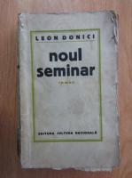 Anticariat: Leon Donici - Noul seminar