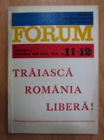 Anticariat: Revista Forum, anul XXXI, nr. 11-12, noiembrie-decembrie 1989