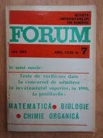 Anticariat: Revista Forum, anul XXXII, nr. 7, iulie 1990