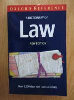 Anticariat: Elizabeth A. Martin - A Dictionary of Law