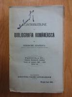 Anticariat: Gheorghe Adamescu - Contributie la bibliografia romaneasca