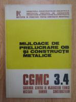 Anticariat: Mijloace de prelucrare OB si constructii metalice