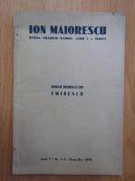 Revista Ion Maiorescu, anul V, nr. 1-2, septembrie-octombrie 1939