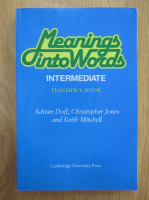 Anticariat: Adrian Doff, Christopher Jones, Keith Mitchell - Meanings into Words
