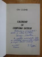Anticariat: Ion Cozmei - Calendar la cumpana satului (cu autograful autorului)