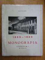 Anticariat: N. Miclescu - Monografia Liceului Nr. 1, 1869-1969