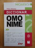Petcu Abdulea - Dictionar de omonime