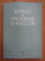 Revista de etnografie si folclor, tomul 21, nr. 1, 1976