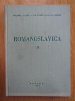 Anticariat: Romanoslavica (volumul 3)