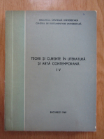 Anticariat: Teorii si curente in literatura si arta contemporana (volumul 4)