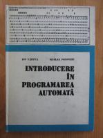Anticariat: Ion Vaduva - Introducere in programarea automata
