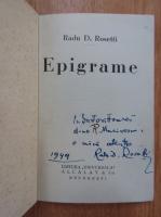 Anticariat: Radu D. Rosetti - Epigrame (cu autograful autorului)