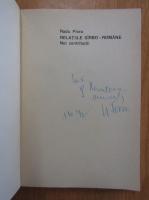 Anticariat: Radu Flora - Relatiile sarbo-romane (cu autograful autorului)