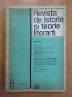 Revista de istorie si teorie literara, tomul 27, nr. 3, iulie-septembrie 1978