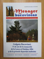 Anticariat: Revista Mesager bucovinean, anul XIII, nr. 2, 2016