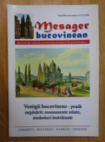 Anticariat: Revista Mesager bucovinean, anul XIII, nr. 3, 2016