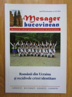 Anticariat: Revista Mesager bucovinean, anul XIII, nr. 4, 2016