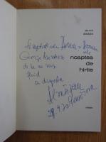 Anticariat: Slavco Almajan - Noaptea de hartie (cu autograful autorului)