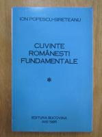 Anticariat: Ion Popescu Sireteanu - Cuvinte romanesti fundamentale