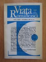 Revista Viata Romaneasca, anul LXXXV, nr. 10, octombrie 1990