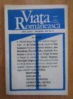 Revista Viata Romaneasca, anul LXXXV, nr. 11, noiembrie 1990