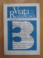 Revista Viata Romaneasca, anul LXXXVI, nr. 3, martie 1991