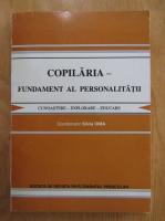 Silvia Dima - Copilaria. Fundament al personalitatii