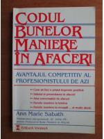 Anticariat: Ann Marie Sabath - Codul bunelor maniere in afaceri