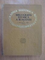 Bibliografia istorica a Romaniei (volumul 2, partea I)