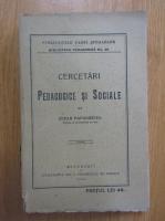 Anticariat: Cezar Papacostea - Cercetari pedagogice si sociale