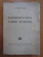 Anticariat: D. Caracostea - Expresivitatea limbii romane