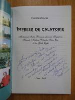 Anticariat: Dan Zamfirache - Impresii de calatorie (cu autograful autorului)