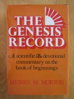 Anticariat: Henry M. Morris - The Genesis Record