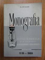 Anticariat: Ion M. Dinu - Monografia scolii normale si a liceului Alexandru Odobescu