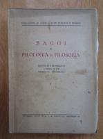 Anticariat: Saggi di filologia e filosofia (volumul 1)