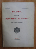 Anticariat: Buletinul Comisiunii Monumentelor Istorice, anul II, nr. 2, aprilie-iunie 1909