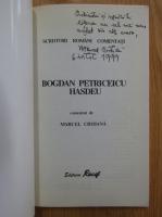 Anticariat: Marcel Crihana - Bogdan Petriceicu Hasdeu comentat de Marcel Crihana (cu autograful autorului)