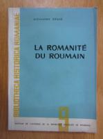 Alexandru Graur - La romanite du roumain