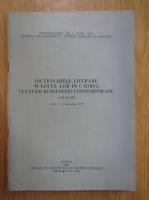 Anticariat: Dictionarele literare si locul lor in cadrul culturii romanesti contemporane. Colocviu, decembrie 1979