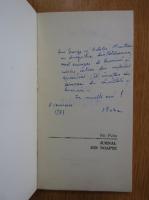 Anticariat: Ion Puha - Jurnal din noapte (cu autograful autorului)