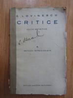 Anticariat: E. Lovinescu - Critice (volumul 2)