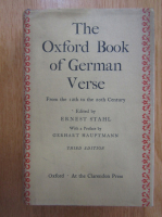 Anticariat: Ernest Stahl - The Oxford Book of German Verse