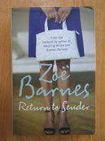 Anticariat: Zoe Barnes - Return to Sender