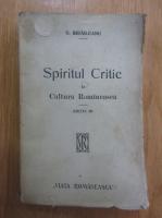Anticariat: G. Ibraileanu - Spiritul critic in Cultura Romineasca