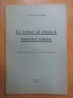 Anticariat: G. T. Niculescu Varone - Ce trebuie sa citeasca tineretul roman
