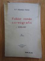 Anticariat: G. T. Niculescu Varone - Folklor roman coreografic