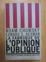 Noam Chomsky - La fabrique de l'opinion publique