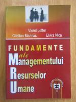 Viorel Lefter - Fundamente ale managementului resurselor umane